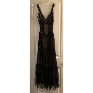 Jessica McClintock (for Gunne Sax) Lace Maxi Dress